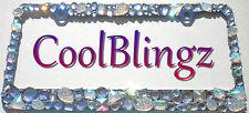Chunky Mix AB Clear Crystal Rhinestone License Plate Frame Bling Diamond Sparkle