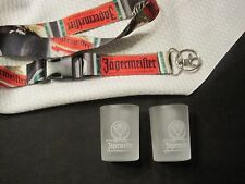 Jagermeister lanyard 2 shot glasses lot