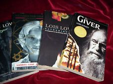 Lot 4 Books by Lois Lowry PB The Giver Messenger Gathering Blue Number the Stars