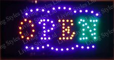 Flashing  OPEN  led new  window Shop signs
