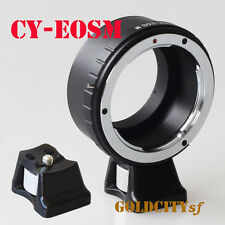 Contax/Yashica C/Y CY Mount Lens to EOSM EF-M Mount Adapter With Tripod Stand