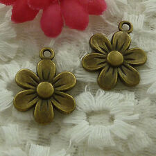 free ship 150 pieces bronze plated flower charms 22x16mm #2552