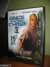 ONCE UPON A TIME IN CHINA II DVD NUOVO SIGILLATO JET LI