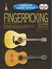 Complete Learn To Play Fingerpicking Guitar Manual Book/CD's - Same Day P+P