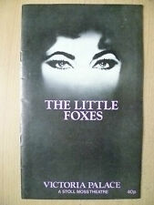 VICTORIA PALACE THEATRE PRO 1982- ELIZABETH TAYLOR in THE LITTLE FOXES-L HELLMAN