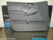 BMW X5 E53 NSF main gauche porte avant garniture carte Vinyl / Cuir Dakota Gris clair