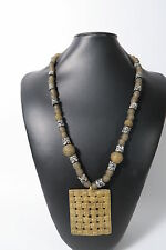 Bella ethnokette Togo j6 Perline Ghana riciclaggio glass Brass Beads afrozip