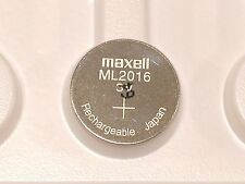NEW MAXELL ML2016 ML 2016 RECHARGEABLE 3V COIN CELL CMOS RTC RESERVE BATTERY