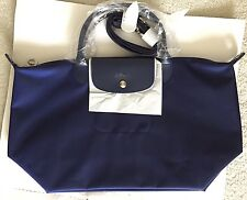 New Longchamp Le Pliage Neo Medium Convertible Handbag w/ Strap in Navy