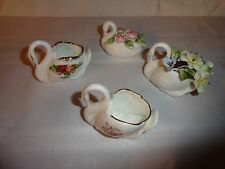 LOT OF FOUR BEAUTIFUL SWAN FIGURES - 3 FROM ENGLAND