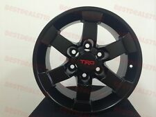 "FOUR 16"" TRD MATTE BLACK STYLE RIMS WHEELS FITS TOYOTA FJ CRUISER 4RUNNER TACOMA"