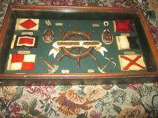 Nautical Shadow Box Maritime Boating Warning Safety flags, Marine Flags, Anchors