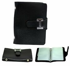 Black PU Leather Credit Card Money And Cash Holder Wallet Black for 20 Cards