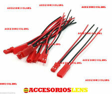 5 PARES DE CABLE Conector 2 Pin Hembra Y Macho BEC JST RC 22AWG