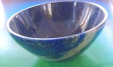 "HAND CARVED BLUE LAPIS LAZULI CRYSTAL GEMSTONE 2"", 50MM, SACRED BOWL FROM TIBET"