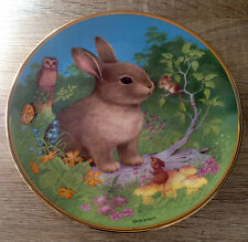 HAVENS Colin Wyatt CHINA PLATE Woodland Friends THE RABBIT Christening Bunny NEW