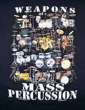 WEAPONS OF MASS PERCUSSION DRUMWEAR  DRUMS  T-SHIRT / BLACK SIZE L