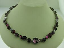 Sorrelli Pink Ruby Necklace NAQ3ASPR Antique silver tone