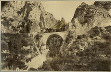 Photo Albuminé Menton Pont St Louis Vers 1880