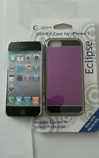 Splash Eclipse Slim-Fit Slider Case for iPhone 5 5s two tone color (PURPLE/BLACK