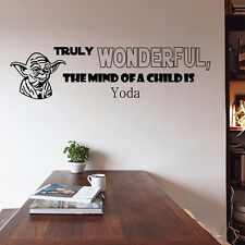 Star Wars Yoda Quotes Wall Stickers Removable Vinyl Decal Art Bedroom Decoration