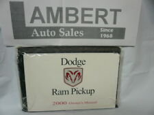 2000 Dodge Ram Pickup Owners Manual Set