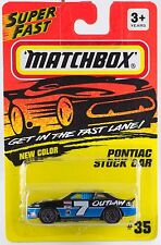 Matchbox MB 35 Pontiac Stock Car Thailand Casting Mint On Card 1995
