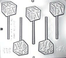 Baby Block Lollipop Chocolate Candy Mold Baby Shower  640 NEW