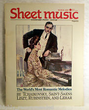 Sheet Music Magazine Mar 1987 The World's Most Romantic Melodies by Tchaikovsky