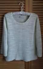 Ladies white edition green mix  jumper size 16