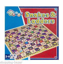 Snakes and Ladders Traditional Board Game Childrens Kids Toy NEW