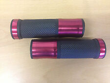 "Motorcycle Scooter Trike ATV Handlebar Grips Red Alloy Rubber 7/8"" 22mm & 25mm"