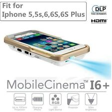 I60+ 280 lums Mobile Cinema DLP Mini Handy Projector For iPhone 5S 6 6 6s 6P SE