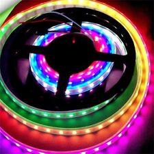 WS2811 RGB LED Strip Light Addressable Digital Tube DC12V 30LED/M White/Black UE