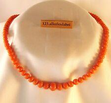 Schöne alte Korallen Kette Collier Koralle Kette Coral necklace Collier / AT 395