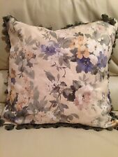 Beautiful NWOT!!  Sage Green with Floral Decorative Accent Pillow