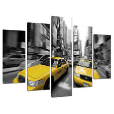 5 Part New York Canvas Pictures Black White Art NYC Cities Prints 5028