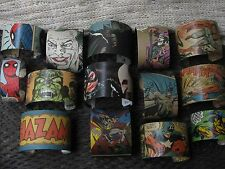WHOLESALE lot comic book cuffs Batman Superman Spiderman Hulk Superhero jewelry