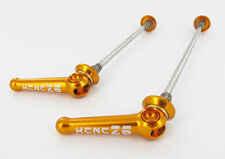 KCNC Z6 Road Quick Release Skewer Set Anodized Gold Stainless Steel Aluminium