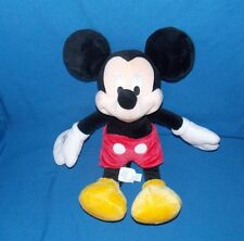 Mickey Mouse Disney Store stuffed plush red pants yellow shoes 17""