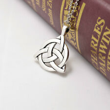 2015 Celtic Triquetra Trinity Knot Pendant Silver  Plated Long Chain Necklace