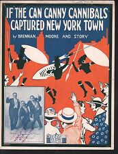 If the Can Canny Cannibals Captured New York Town 1916 Large Format