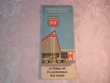 PHILIPS 66  GAS OIL CO. SERVICE STATION  WESTERN-CENTRAL U.S. MAP ADV.