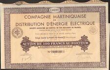 Cie Martiniquaise de  DISTRIBUTION d'ENERGIE ÉCLECTIQUE (MARTINIQUE) (H)