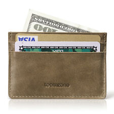Men Handmade Credit Card Sleeve Wallet Business Card Holder Minimalist Purse
