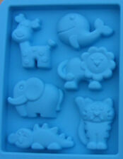 Reusable Silicon Rubber Animals Mould Dolls House Miniature Food Safe Accessory