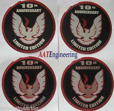 1979 TATA Trans Am 10th Anniversary 3D Wheel Center Cap Inserts ~NEW