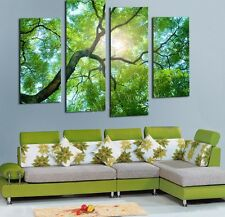 Home Decor Art Painting Green Tree Wild Modern Picture Oil Canvas Wall No Frame