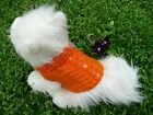 XXXXS handmade knit  Orange dog sweater
