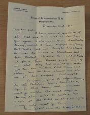 """1926 PERSONAL Letter~""""U.S. HOUSE of REPRESENTATIVES""""~Henry E. Barbour FRESNO CA~"""